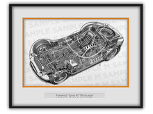 "Maserati Type 61 ""Birdcage"" Cutaway Drawing"