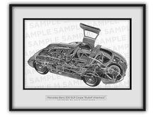 Mercedes-Benz 300 SLR Cutaway Drawing