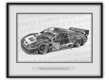 Nissan 300ZX IMSA Race Car Cutaway Drawing