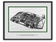 "Porsche 935/78 ""Moby Dick"" Cutaway Drawing"