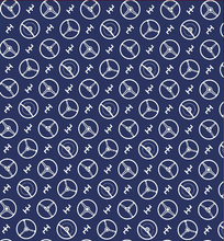 Blue Steering Wheels Wrapping Paper