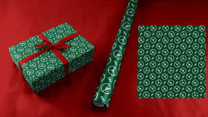 Green Steering Wheels Wrapping Paper