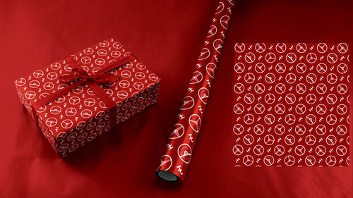 Red Steering Wheels Wrapping Paper