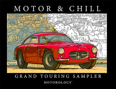 Motor and Chill: Grand Touring Sampler coloring book by Motorology