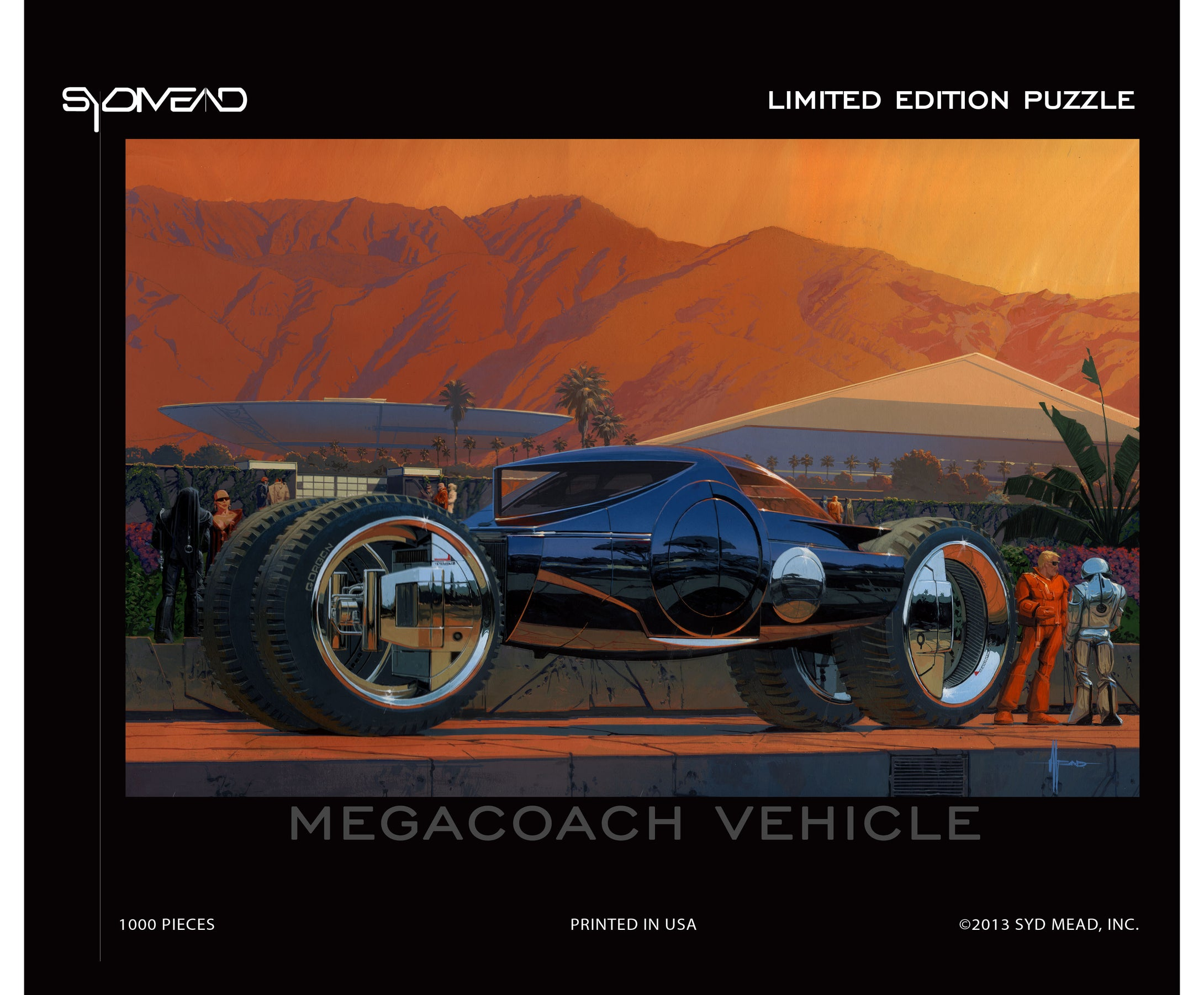 Syd Mead limited edition puzzle: Megacoach