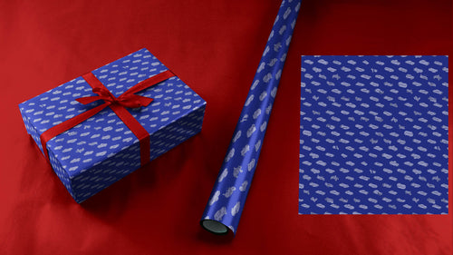 Tiny 49 Car Collection Wrapping Paper in Blue
