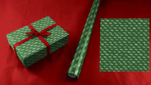 Tiny 49 Car Collection Wrapping Paper in Green