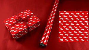 Tiny 49 Car Collection Wrapping Paper in Red and White