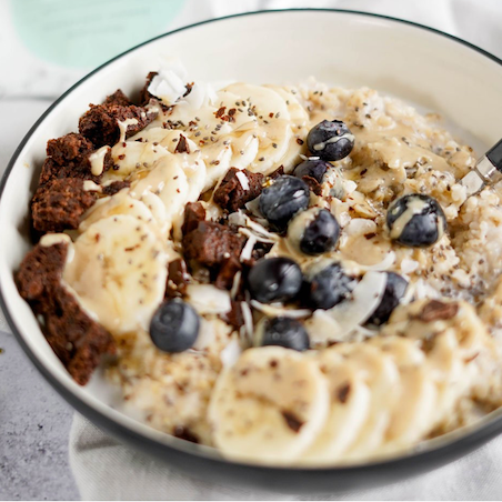 CompletEats Cacao Blueberries Hot Oats Bowl