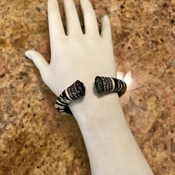 Angelique de Paris Zebra cuff bracelet