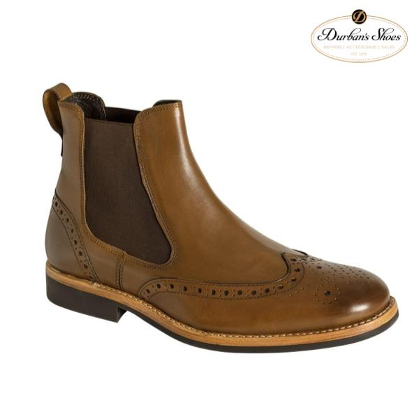 Brown brougue boot