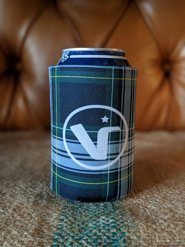 Green Plaid Koozie