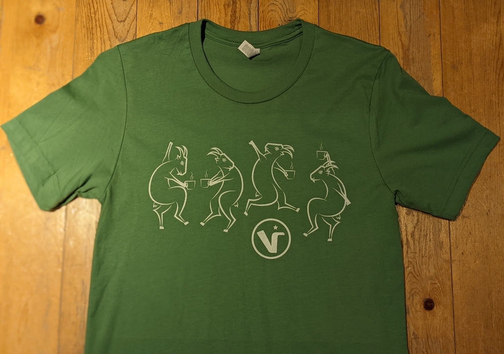 Green Dancing Goat T-Shirt