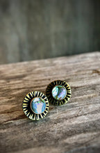 sunburst hex studs