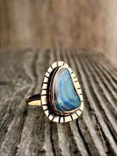 boulder opal moonrise ring