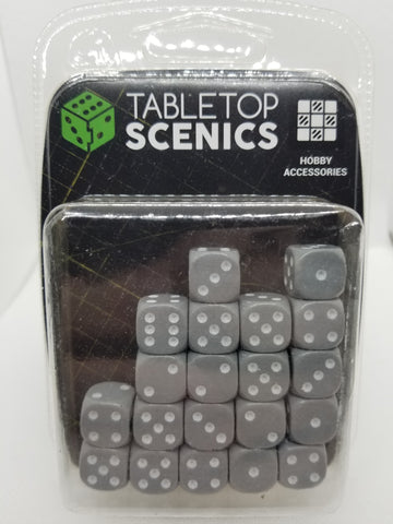 12mm Opaque Grey Dice (20)