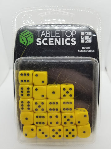 12mm Opaque Yellow Dice (20)