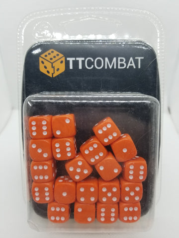 12mm Opaque Orange Dice (20)