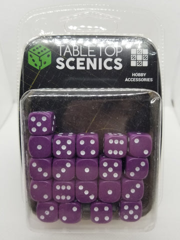 12mm Opaque Purple Dice (20)