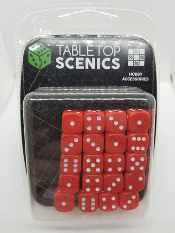 12mm Opaque Red Dice (20)