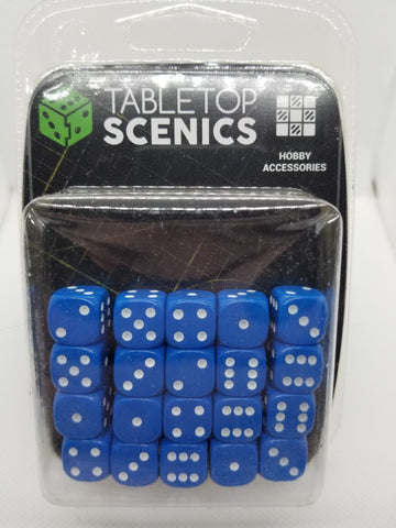 12mm Opaque Blue Dice (20)
