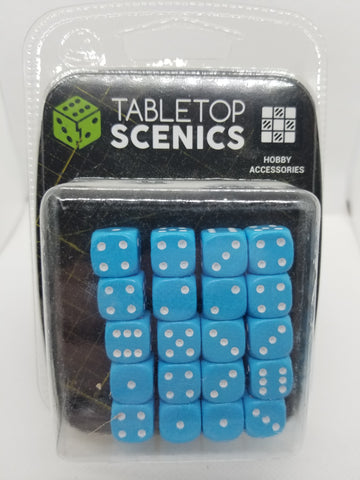12mm Opaque Light Blue Dice (20)