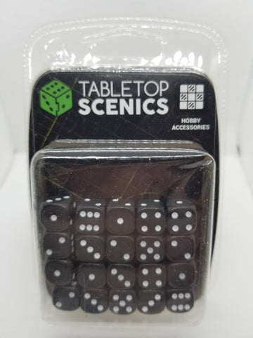 12mm Opaque Black Dice (20)