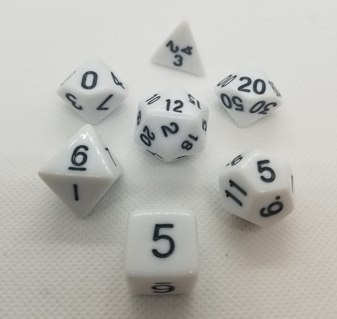 CDG White & Black RPG Dice Set (7)
