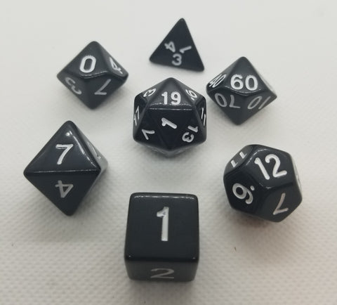 CDG Black & White RPG Dice Set (7)