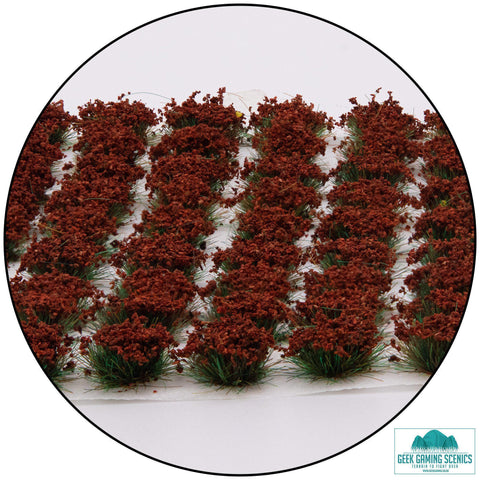Poppy Flowers 6mm Self Adhesive Tufts (100)