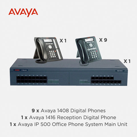 Avaya IP500 Office Telephone System with 10 Digital Handsets