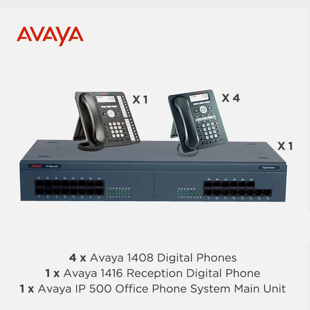 Avaya IP500 Office Telephone System with 5 Digital Handsets