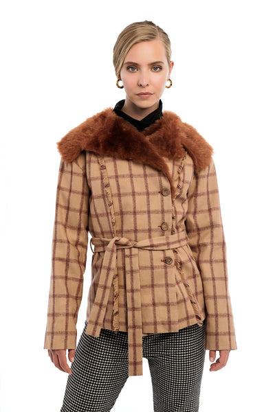 CAWDOR Faux Fur Jacket