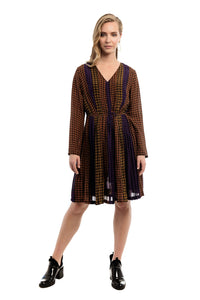 CORNEL Pleated Slik Dress