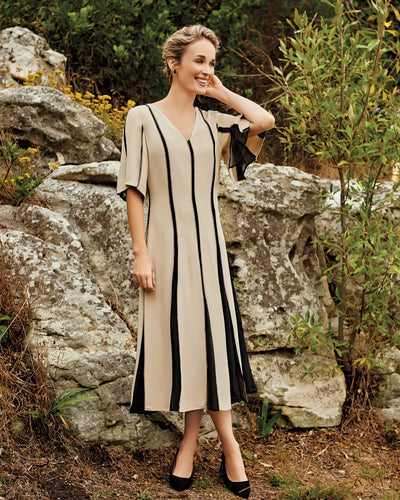 Tresco Silk Embroidered Dress