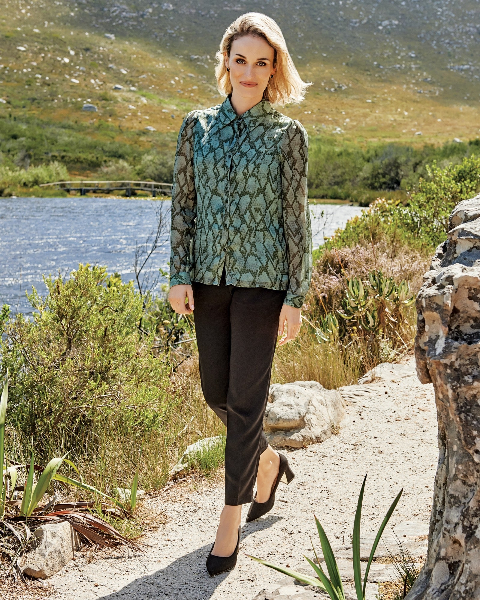 Rugosa Silk Printed Blouse