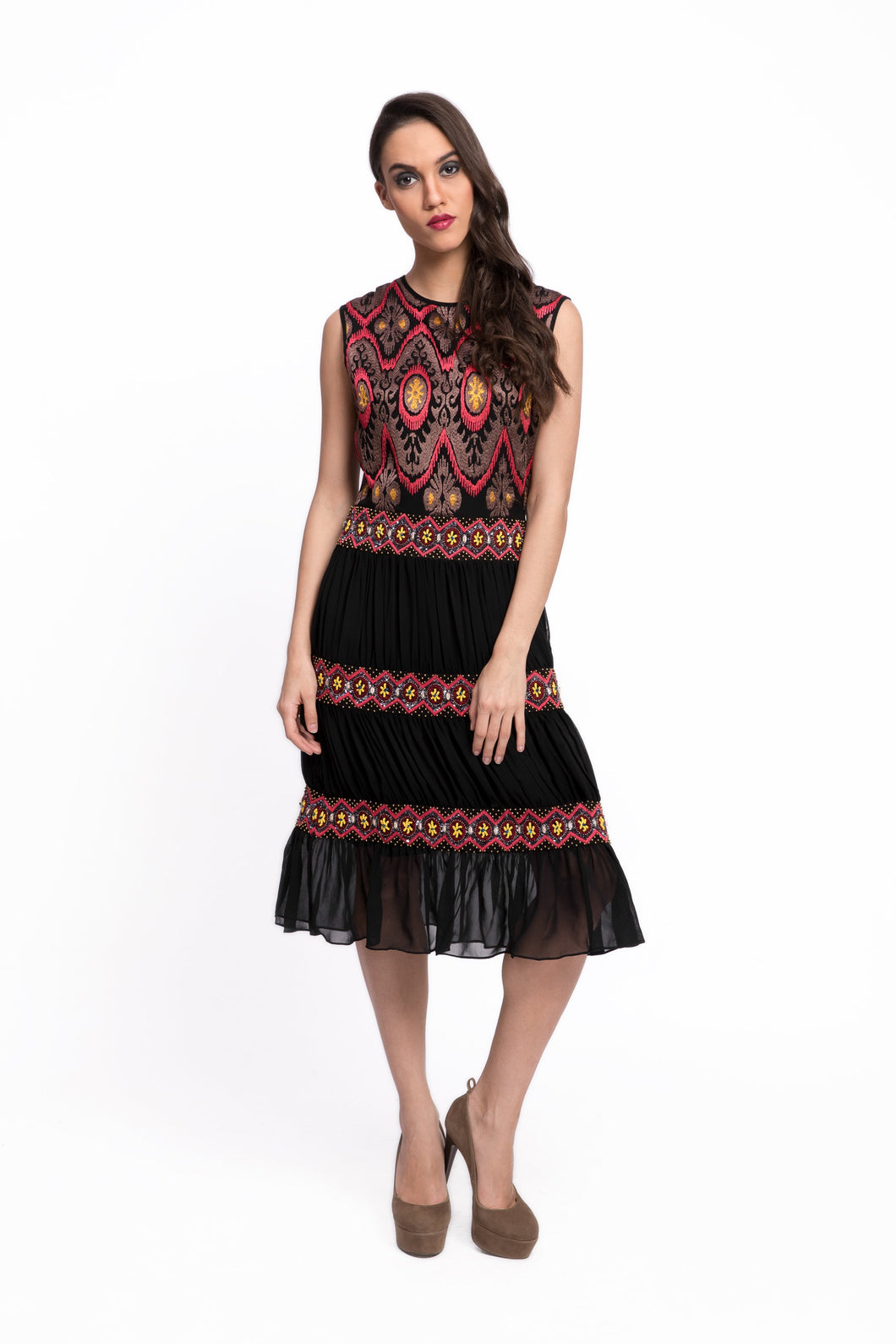 FOSTERI Embroidered Dress