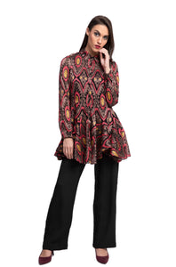 AFZELIA Print Tunic Top