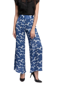 PLURIDENS Bird Print Wide Leg Pants