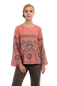 ARISTEA Embroidered Tunic Top