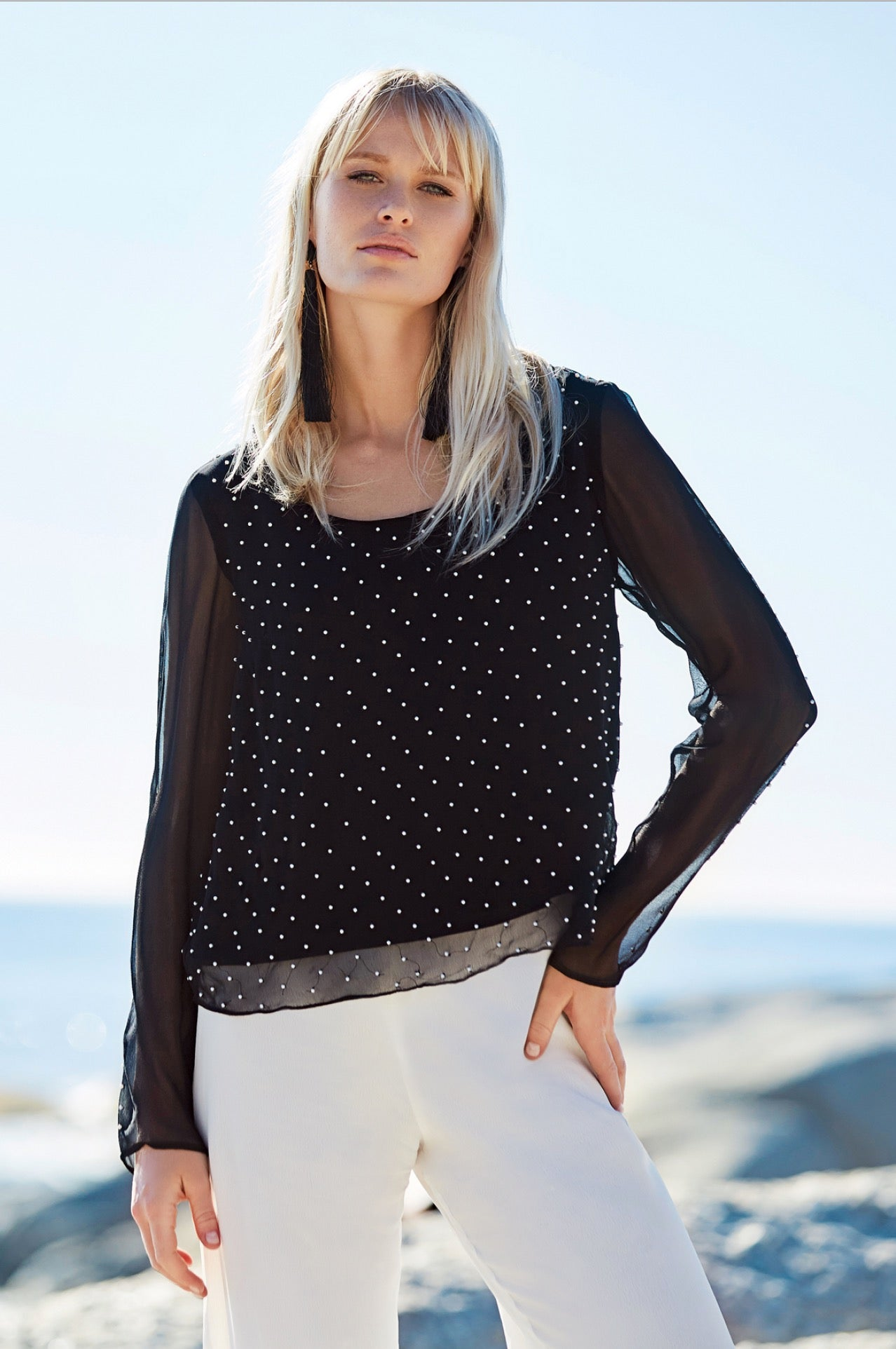 CRASSULA Embellished Blouse