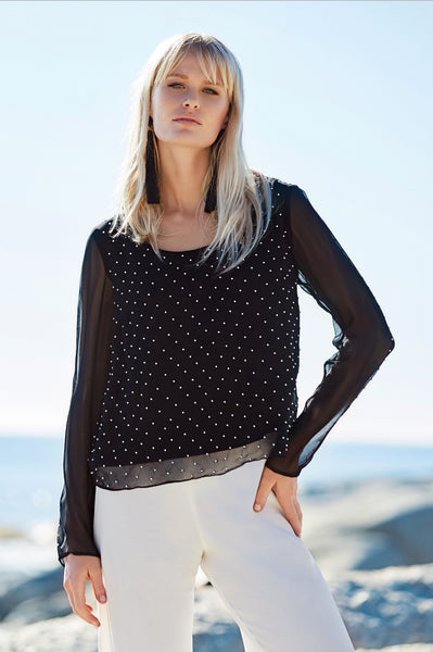 CRASSULA Scoop neck blouse