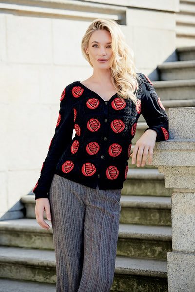 MACKINTOSH Rose Silk Cardigan
