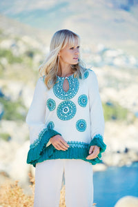 LATIFOLIA  Embellished Top