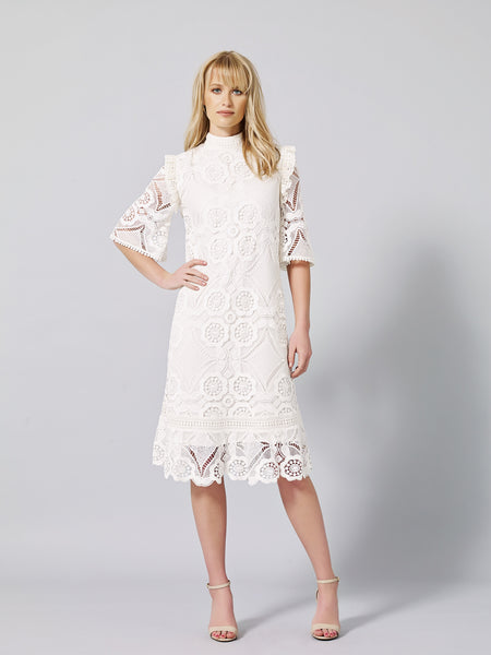 LINEARIS Lace Shift Dress