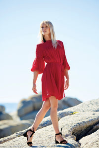 ASPERA Silk Bell Sleeve Dress