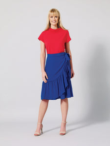 ENCELIA Silk Wrap Skirt