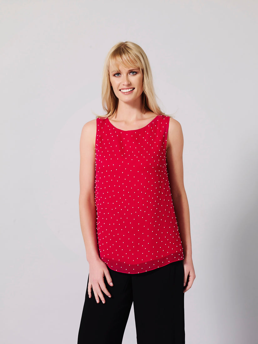 Planifolia Embellished Top