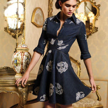 Load image into Gallery viewer, PROTEA Denim Embellished Dress