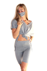 Breezy Delight 3 Piece Set With Facemask